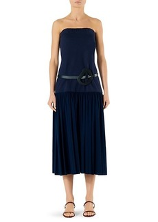 Tibi Punto Milano Strapless Drop Waist Dress