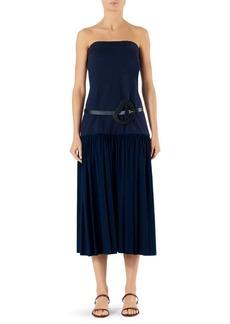 Tibi Punto Milano Strapless Drop Waist Dress