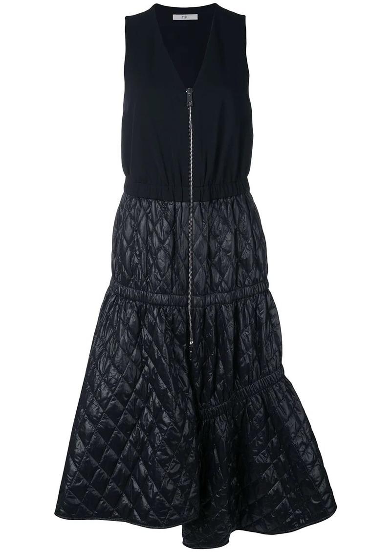 Tibi quilted asymmetric zip dress