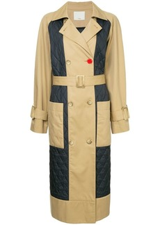 Tibi quilted trench coat