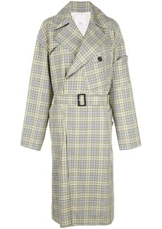 Tibi recycled check trench coat