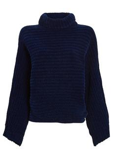 Tibi Recycled Velour Turtleneck Sweater