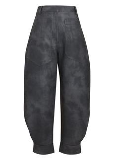 Tibi Rubberized Tie-Dye Sculpted Pants