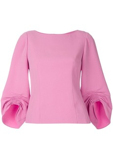 Tibi ruched sleeve blouse