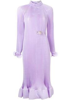 Tibi ruffle hem pleated dress