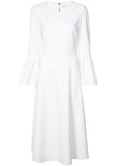 Tibi ruffle sleeve flared dress