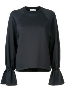 Tibi Ruffle Sleeve Sweatshirt