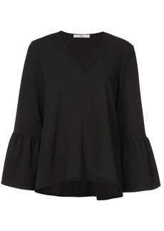 Tibi ruffle sleeve V-neck blouse