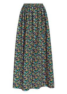 Tibi Sabine Floral Cocoon Maxi Skirt