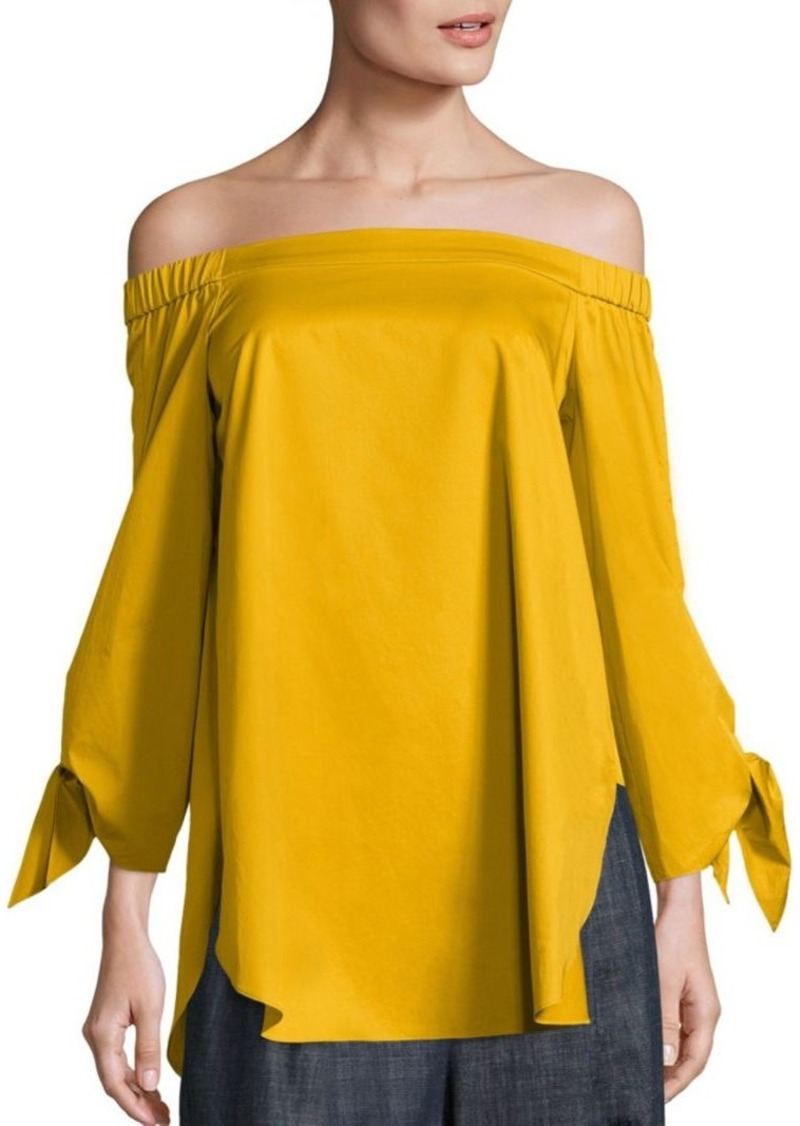 c245979af6a On Sale today! Tibi Satin Poplin Off-the-Shoulder Top