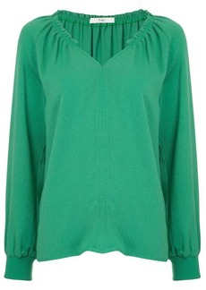 Tibi Savanna ruffle neck top