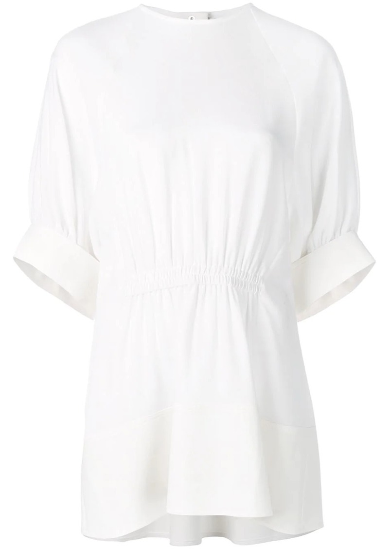 Tibi Savanna shirred panel top