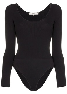 Tibi scoop-neck long sleeve bodysuit
