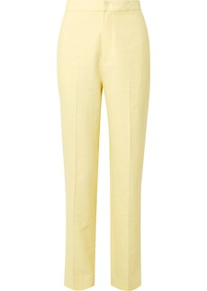 Tibi Sebastian Twill Straight-leg Pants
