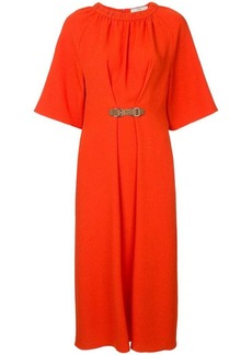 Tibi shirred neck midi dress