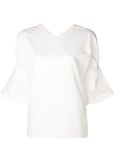 Tibi Shirred Poplin blouse
