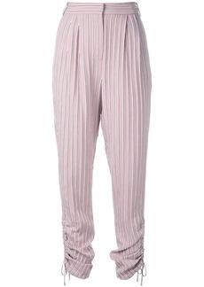 Tibi shirred straight leg trousers