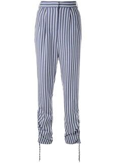 Tibi shirred striped trousers