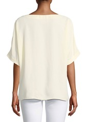 Tibi Short-Sleeve Crewneck Easy Top