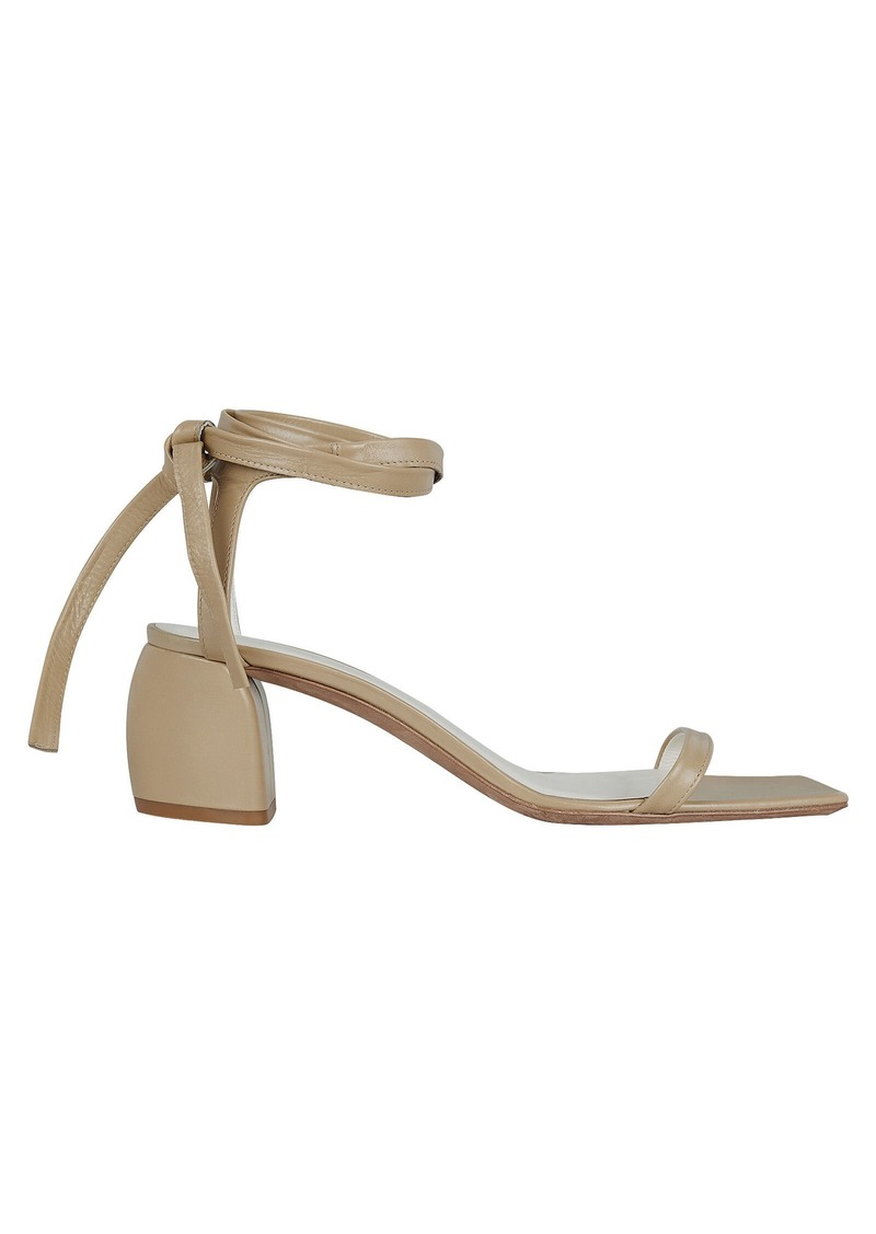 Tibi Shyam Ankle Tie Leather Sandals