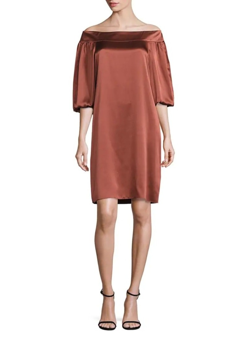 97dd636b0802 Tibi Silk Off-The-Shoulder Dress