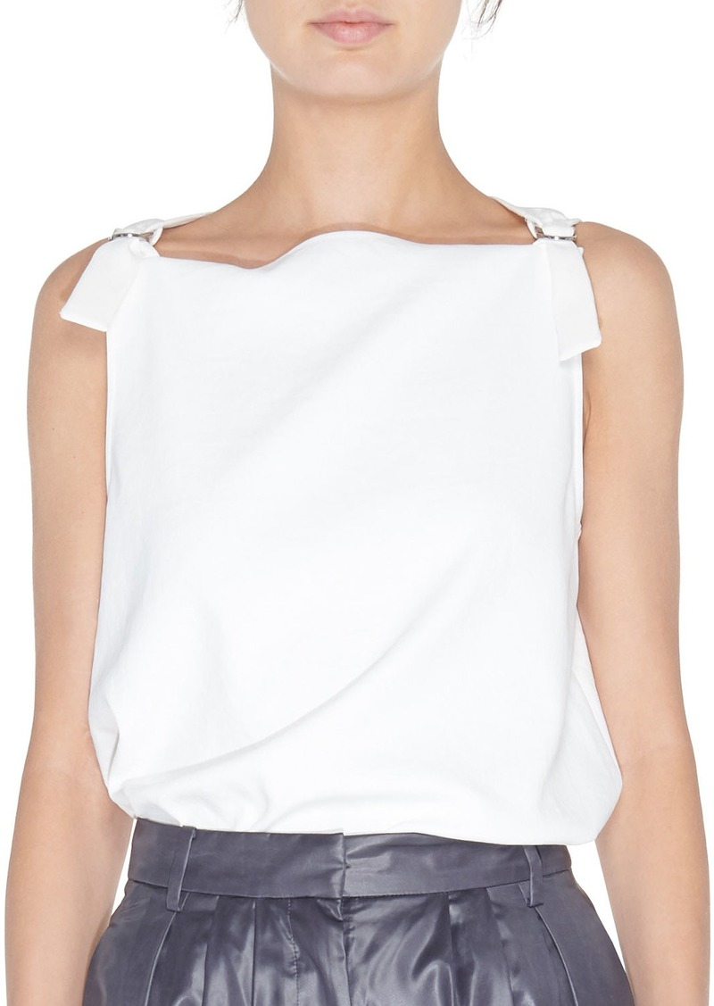 Tibi Sleeveless D-Ring Top