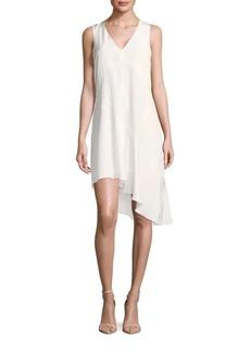 Tibi Sleeveless Silk Asymmetric Dress