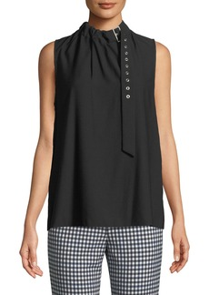 Tibi Sleeveless Twill Buckle Top