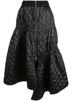 Tibi soft quilting asymmetric skirt