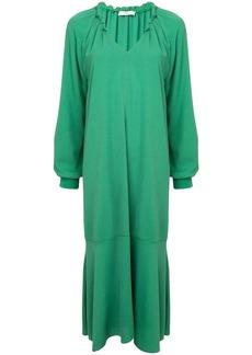 Tibi split neck slip dress