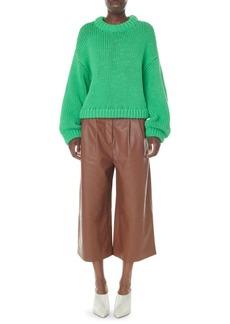 Tibi Stella Leather Culotte Pants