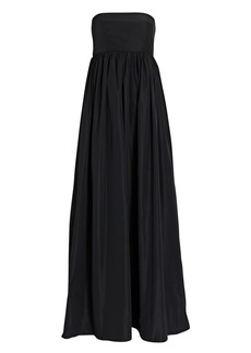 Tibi Strapless Taffeta Cocoon Dress