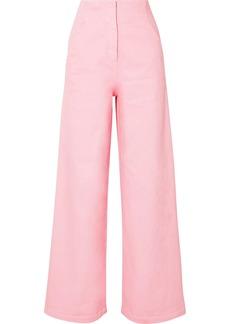 Tibi Stretch-cotton Wide-leg Pants