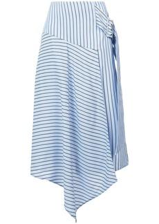 Tibi striped asymmetric skirt