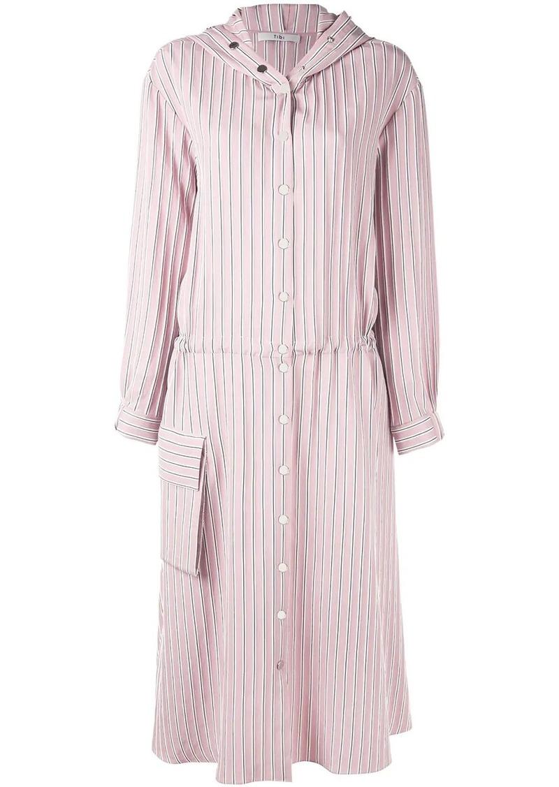 Tibi striped mid-length dress