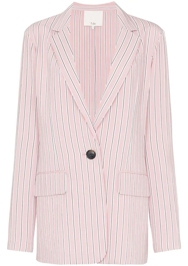Tibi striped single-breasted blazer
