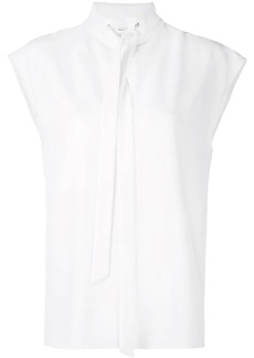 Tibi structured neck tie top