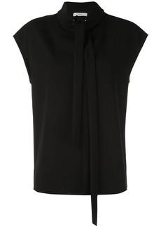 Tibi structured neck tie top