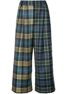 Tibi tartan Stella cropped trousers