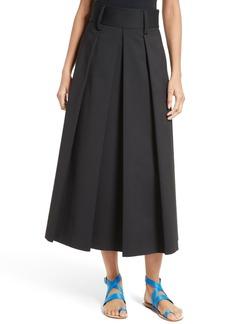 Tibi Agathe High Waist Pleated Midi Skirt