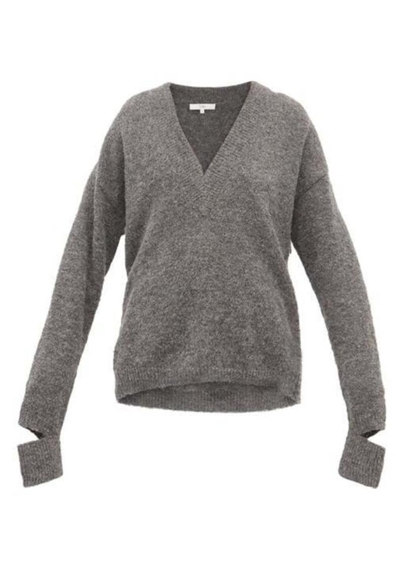 Tibi Airy V-neck alpaca-blend sweater