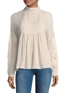 Tibi Anai Embroidery Top