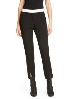Tibi Anson Contrast Waistband Skinny Pants