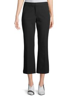 Tibi Anson Crop Crepe Pants w/ Tux Stripe