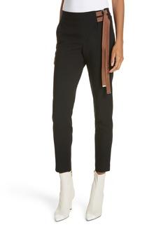 Tibi Anson Stretch Side Buckle Skinny Pants