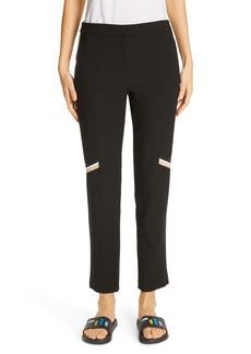 Tibi Anson Stripe Detail Skinny Pants