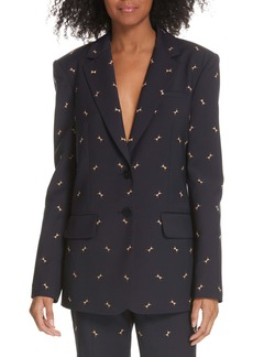 Tibi Ant Embroidered Blazer