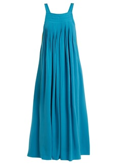 Tibi Areille pleated silk-crepe dress