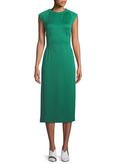 Tibi Astor Crewneck Sleeveless Knit Midi Dress