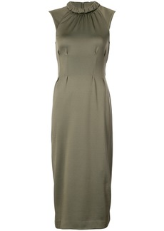 Tibi Astor cut-out midi dress - Green